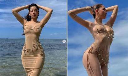 Chẳng cần bikini, Chi Pu vẫn được khen body nóng bỏng không thua kém Ngọc Trinh